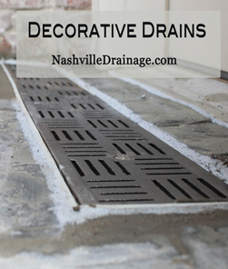 Nashville Decorative Drain Image for Entrances and in front of Doors and Garages.